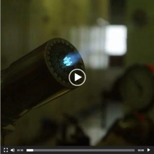 فیلم یک مشعل 3 مرحله ای جهت کار در صنایع شیشه