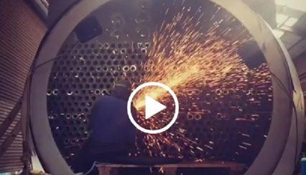 ساخت دیگ بخاری با وزن بیش از 84 تن و با خروجی 20 تن بخار در ساعت