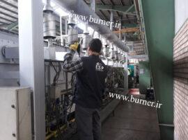 آنالیز و تنظیم مشعل های کوره صنعتی